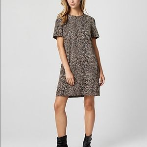 Le Chateau Leopard Print Crepe de Chine Dress XXL